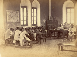 Class in progress in girls' school, Karachi